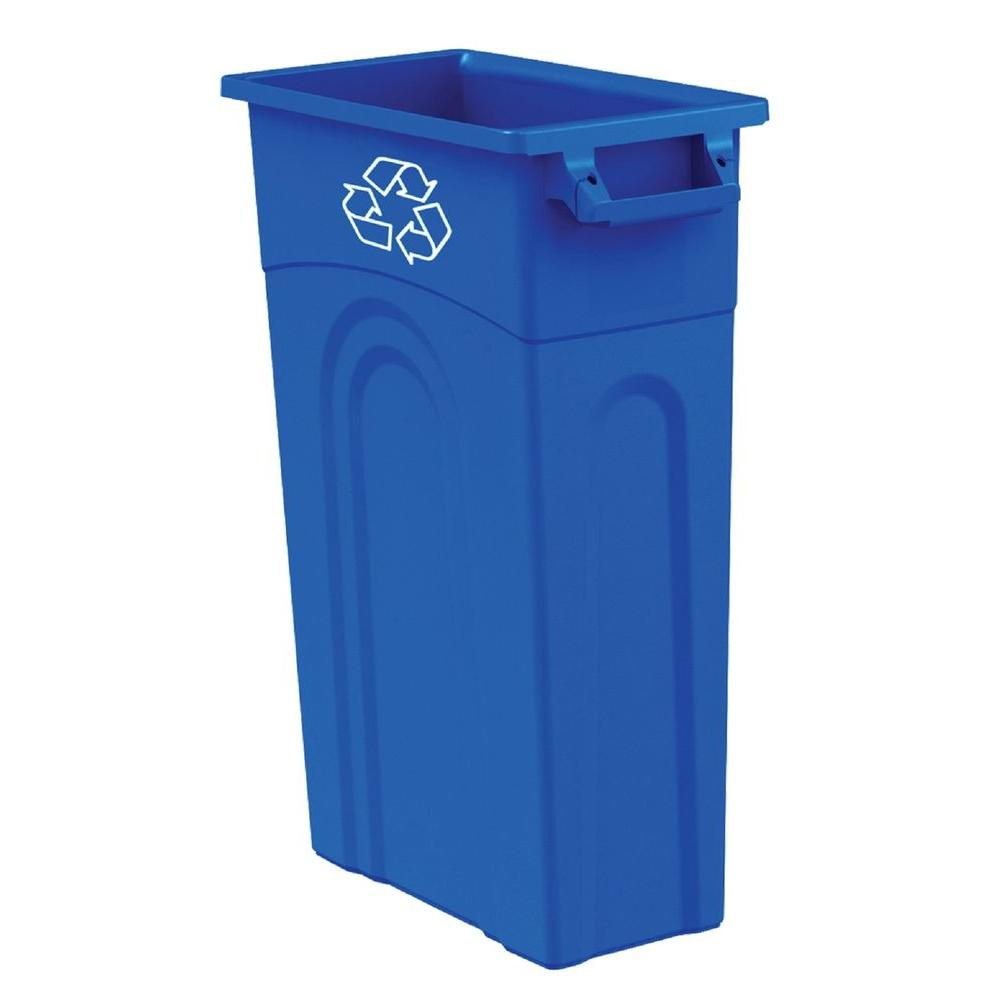 Bluehomz Solutions: United Solutions 23 Gal. Blue Recycling Highboy Waste