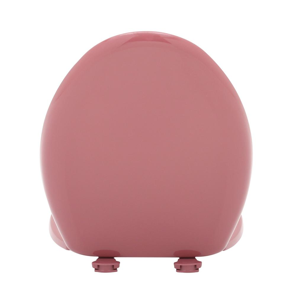 Raspberry Elongated Closed Front Toilet Seat Resilient