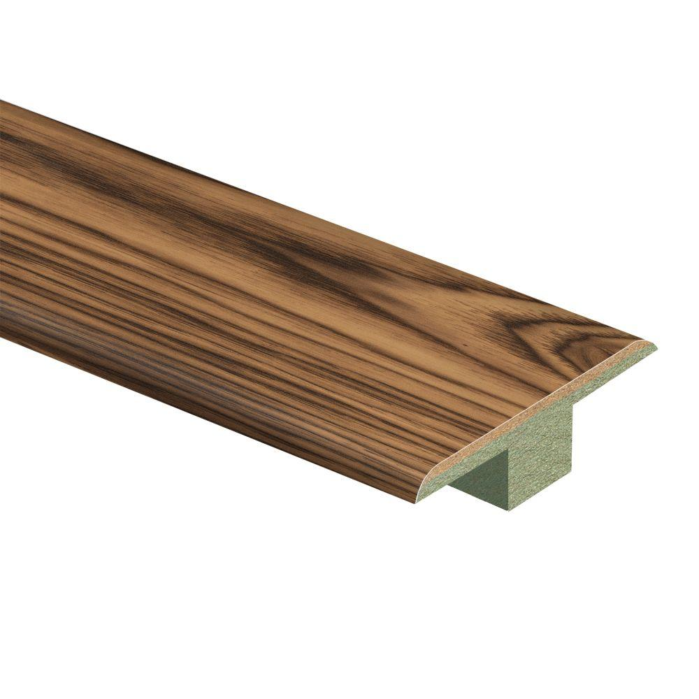 Zamma Smoked Hickory 7/16 in. Thick x 1-3/4 in. Wide x 72 in. Length Laminate T-Molding