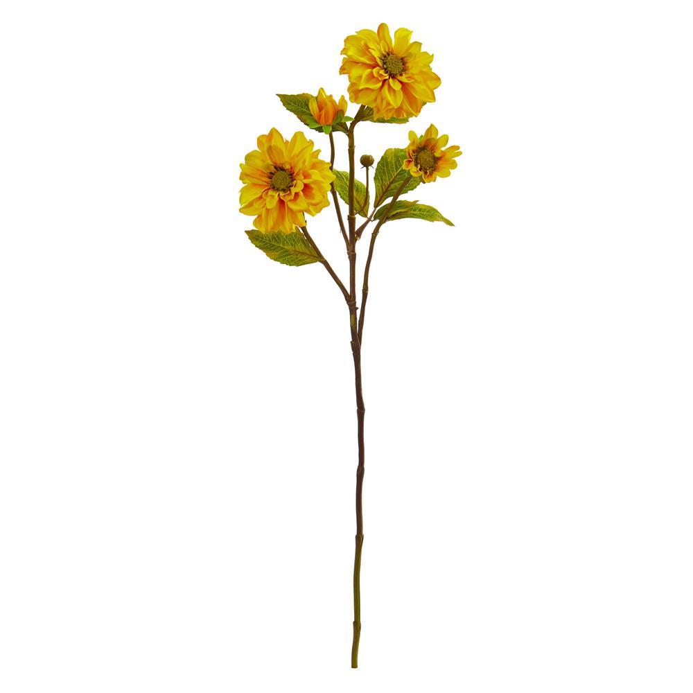 Indoor 30 in. Zinnia Artificial Flower (Set of 6)