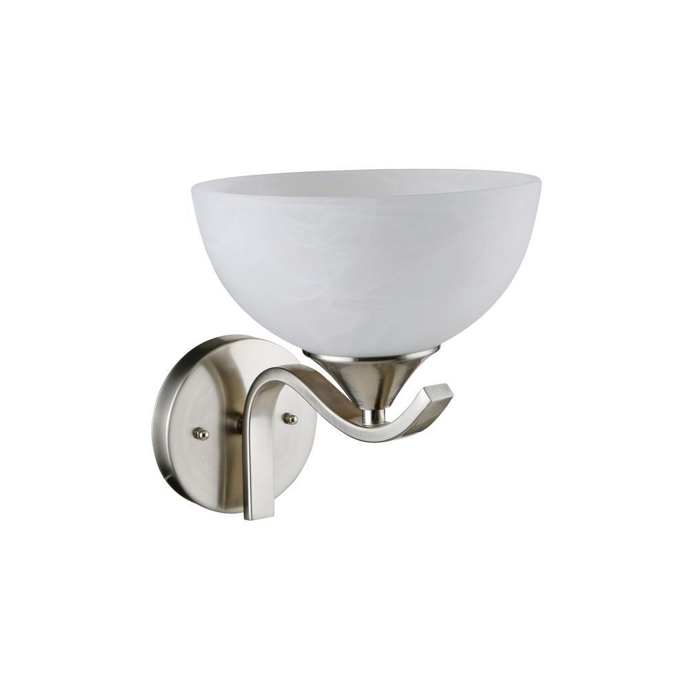 BELDI Bisbee 1-Light Satin Nickel Swing Arm Light
