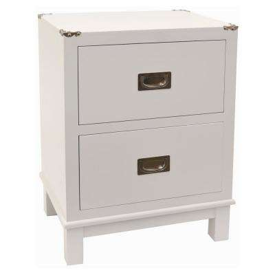 24 in. White Wood Cabinet
