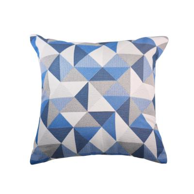 Ruskin Blue Square Accent Throw Pillow