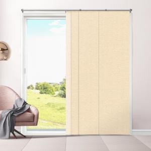 Chicology Cut-to-Length Eclipse Honeymilk Cordless Polyester Panel - 80 inch W x... by Chicology