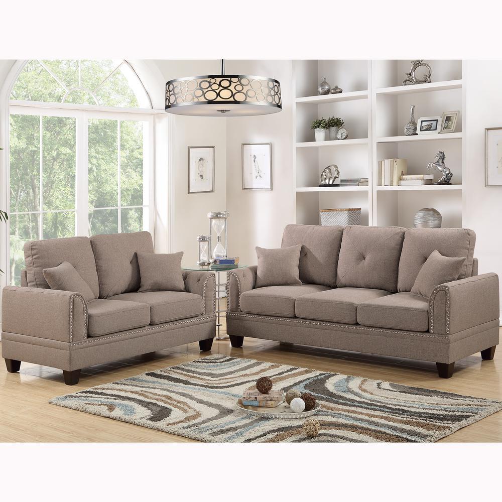 Venetian Worldwide Coffee Brown Sofa Set