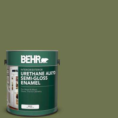1 gal. #S360-6 Secret Meadow Urethane Alkyd Semi-Gloss Enamel Interior/Exterior Paint