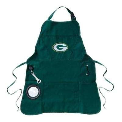 Green Bay Packers NFL 24 in. x 31 in. Cotton Canvas 5-Pocket Grilling Apron with Bottle Holder