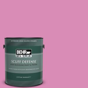 Behr Ultra 1 Gal P120 3 High Maintenance Extra Durable Semi Gloss Enamel Interior Paint Primer 375401 The Home Depot