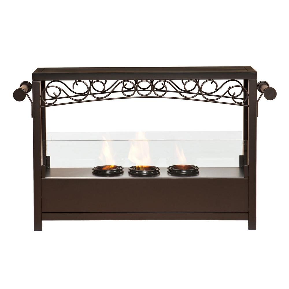 Southern Enterprises Victoria 33 in. Portable Indoor/Outdoor Gel Fuel Fireplace
