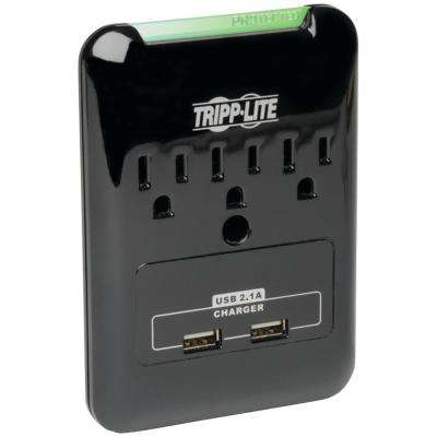 Protect It Flat-Profile 3-Outlet Surge Protector with USB Ports