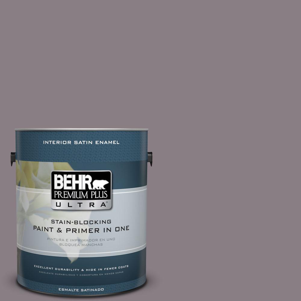 1-gal. #N570-4 Classy Plum Satin Enamel Interior Paint