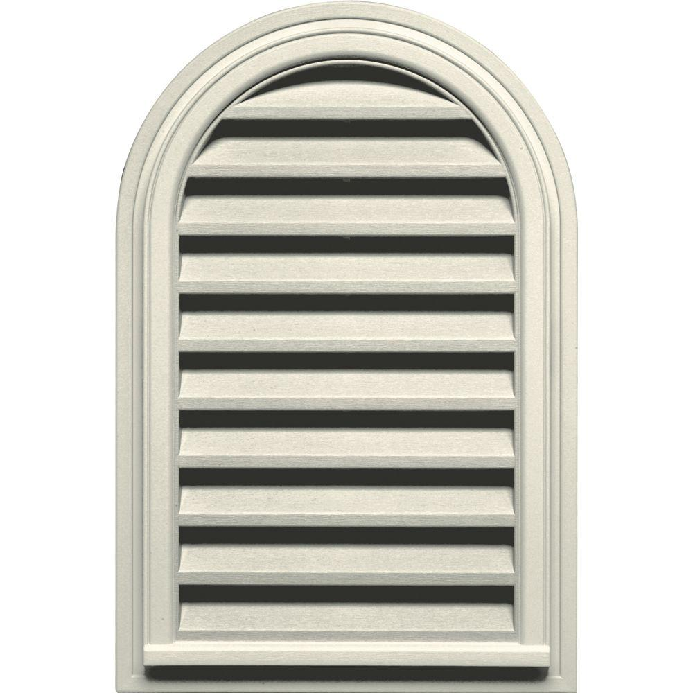 22 in. x 32 in. Round Top Gable Vent in Linen