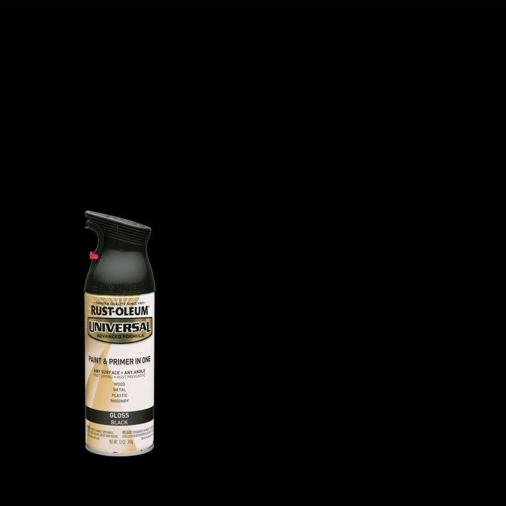 Rust-Oleum Universal 12 oz. All Surface Gloss Black Spray Paint and Primer in One