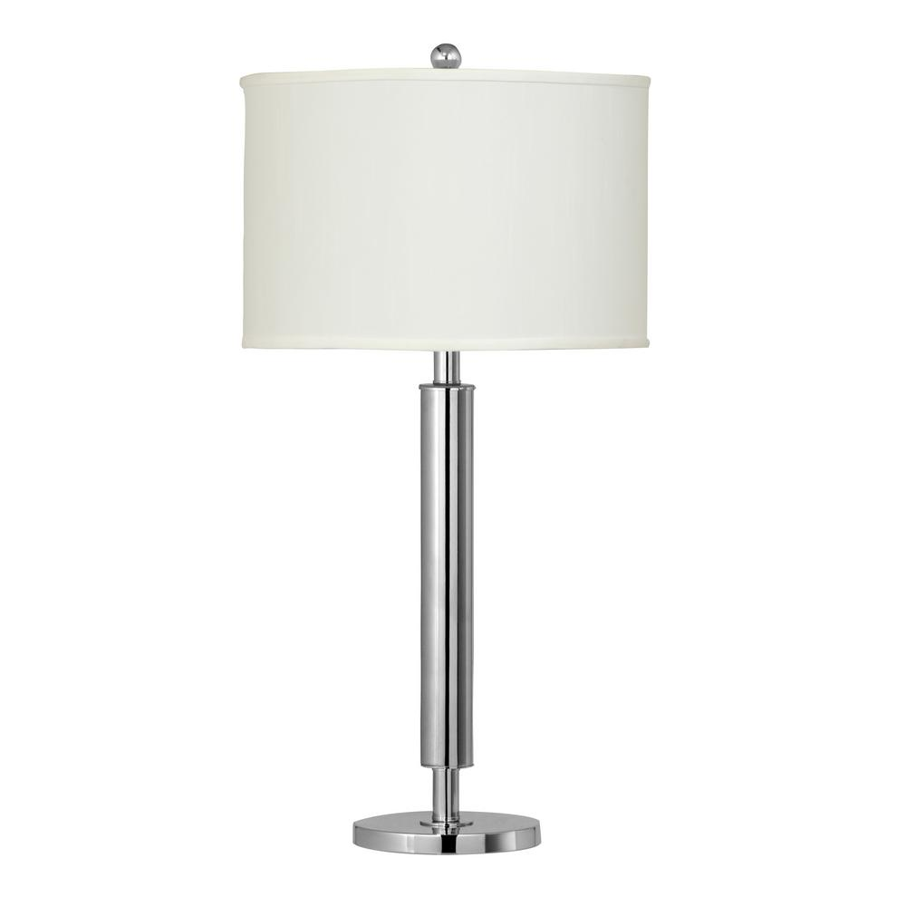Cal Lighting 29 In Chrome Metal Table Lamp