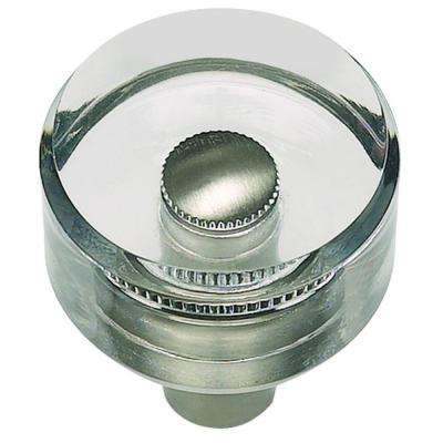 Optimism 1 3/16 in. Brushed Nickel Round Knob