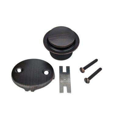 Tub Drain Trim and 2-Hole Overflow Cover for Bath Tubs, Oil Rubbed Bronze