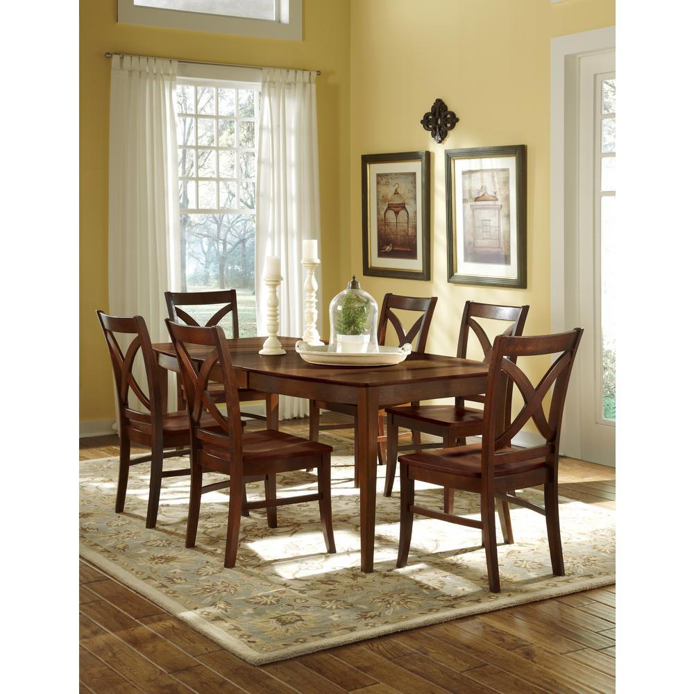 Salerno Espresso Wood Dining Chair (Set of 2)