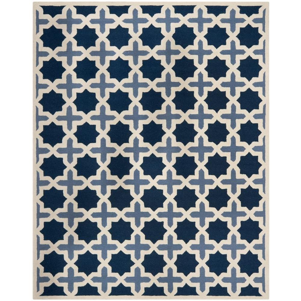 Cambridge Blue/Ivory 9 ft. x 12 ft. Area Rug