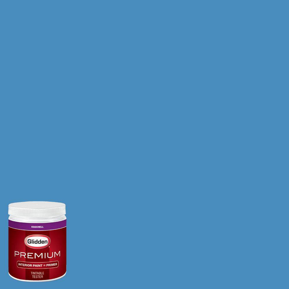 Glidden Premium 8 oz. #wnba-132B Atlanta Dream Blue Eggshell Interior Paint with Primer, Blues