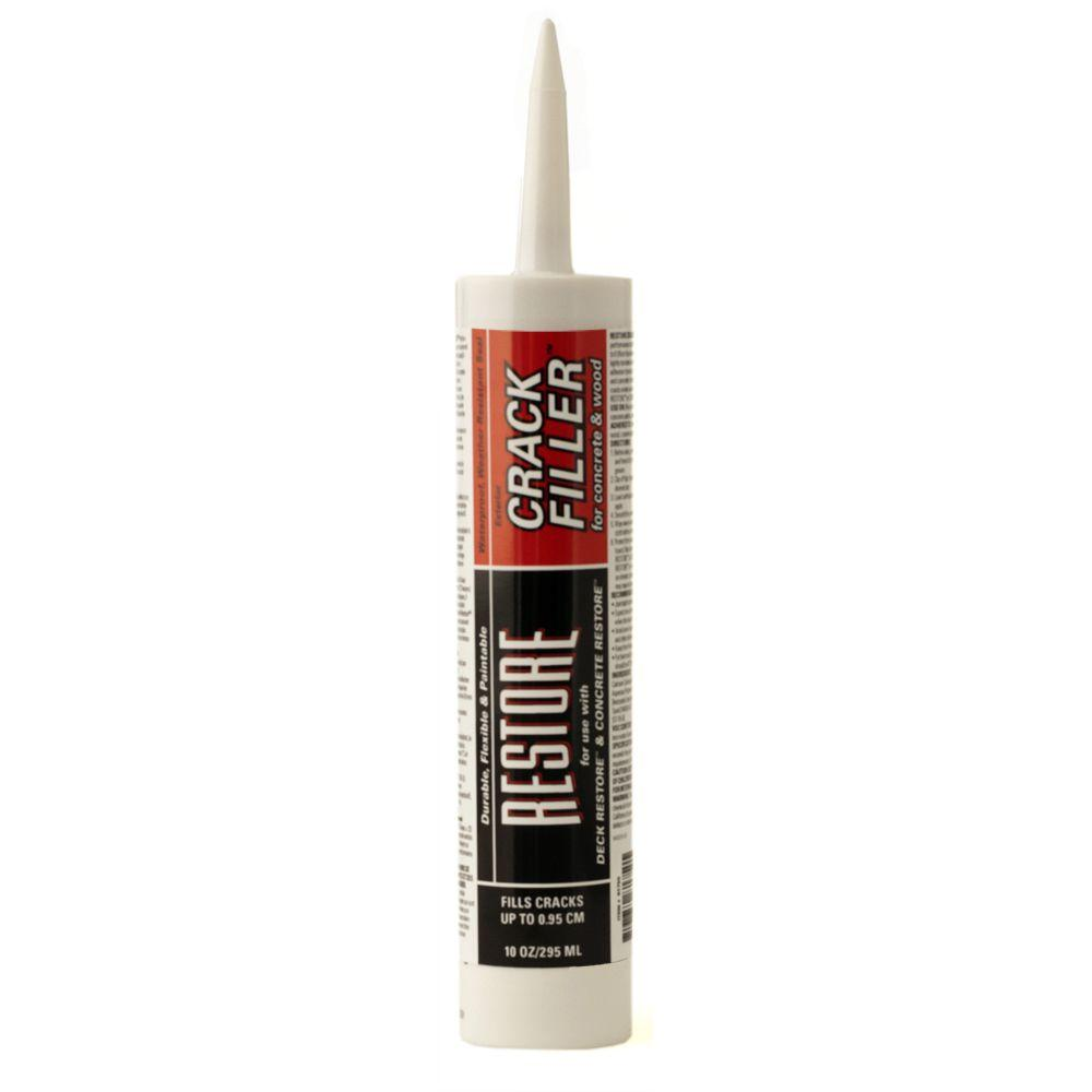 Rust oleum restore 10 fl oz crack filler for concrete for Wood floor crack filler