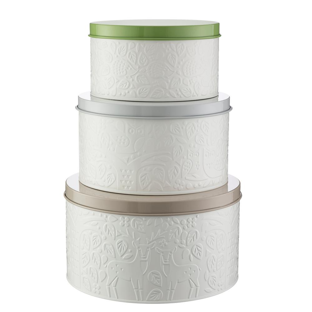 In the Forest Coated-Steel Cake Tins (Set of 3)