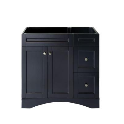 Elise 36 in. W Bath Vanity Cabinet Only in Espresso