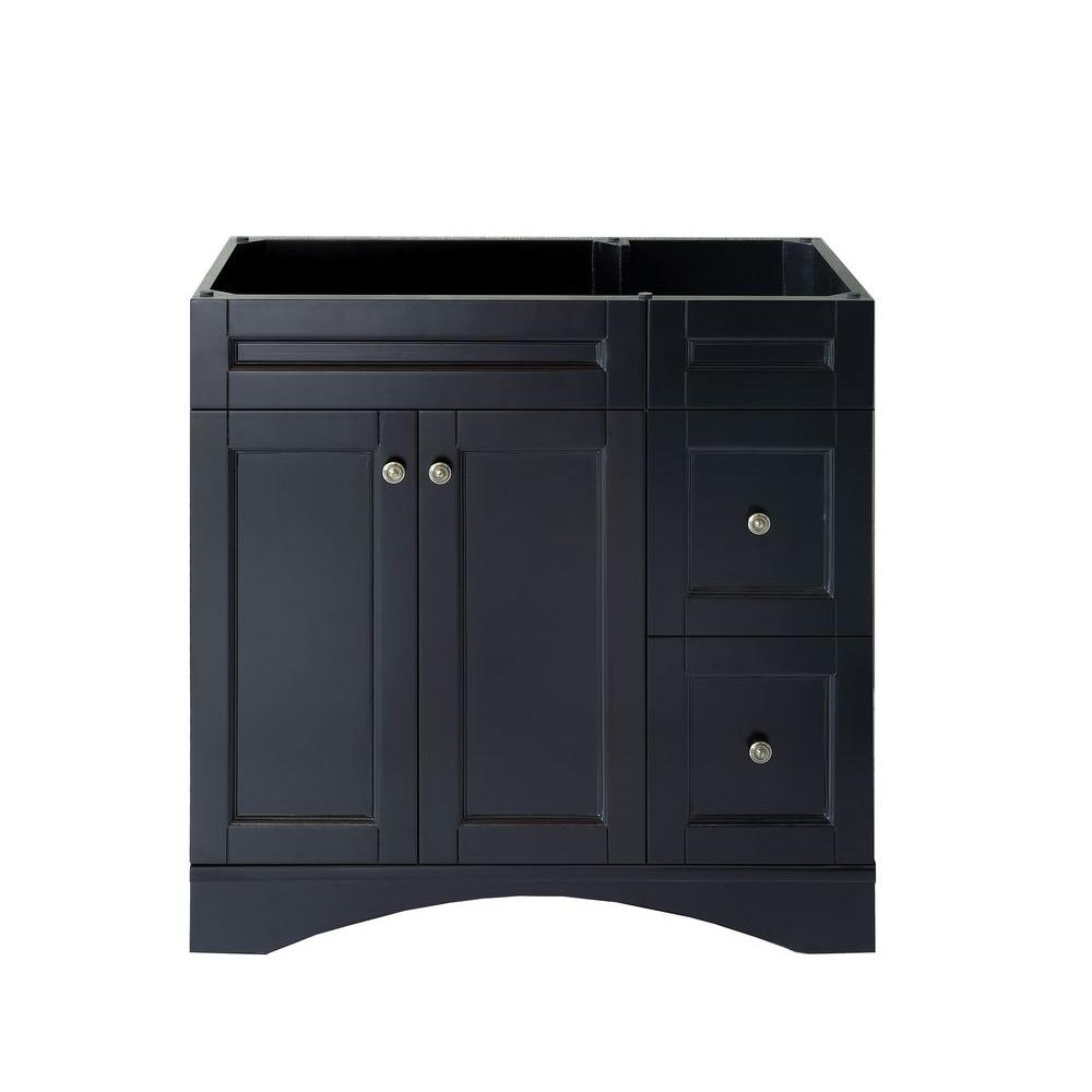 Virtu USA Elise 36 in. W x 22 in. D x 35.24 in. H Vanity Cabinet Only in Espresso