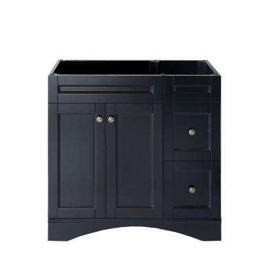 Elise 36 in. W x 22 in. D x 35.24 in. H Vanity Cabinet Only in Espresso
