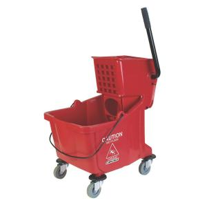 Carlisle 35 qt. Red Wringer Mop Bucket by Carlisle