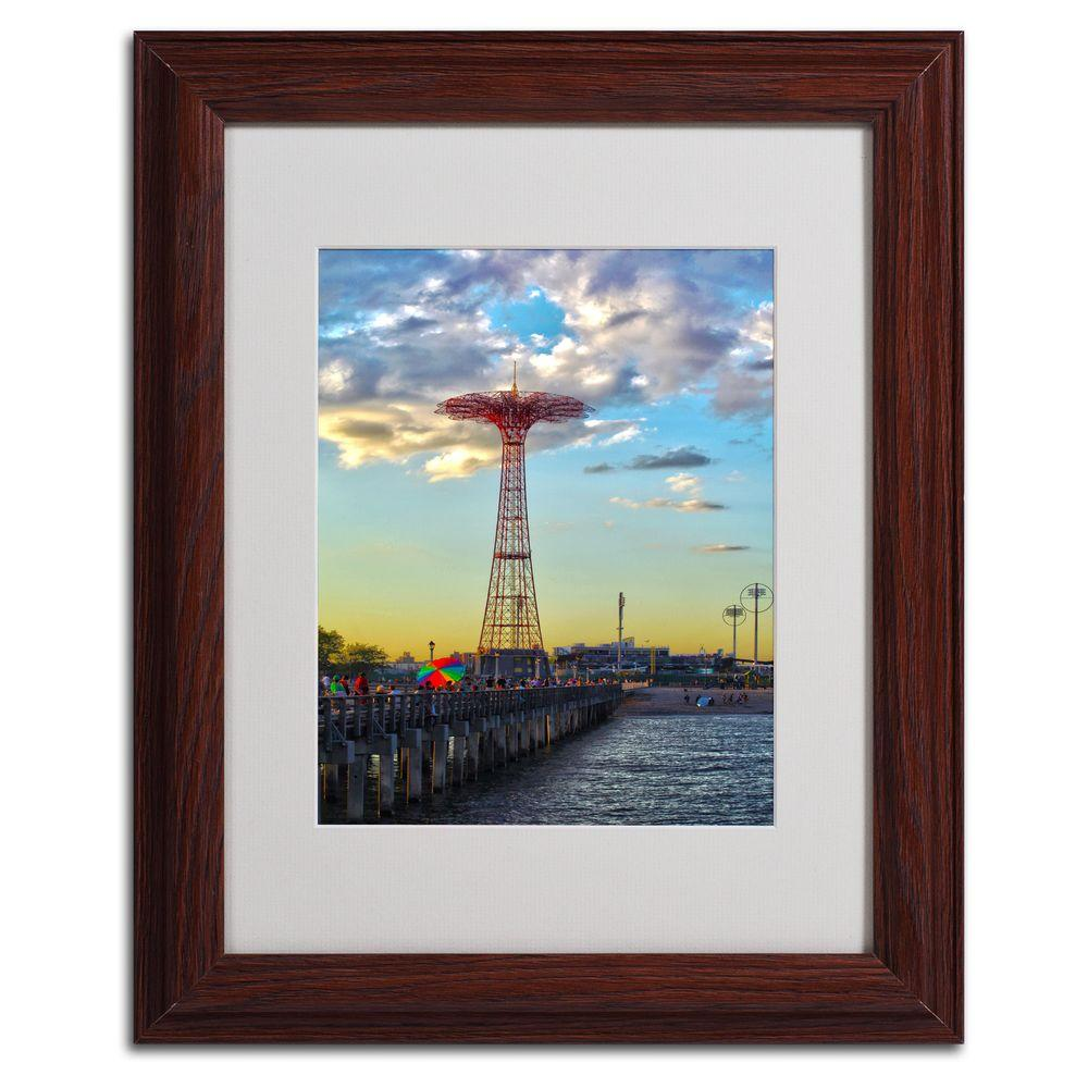 11 in. x 14 in. Coney Island Matted Framed Art
