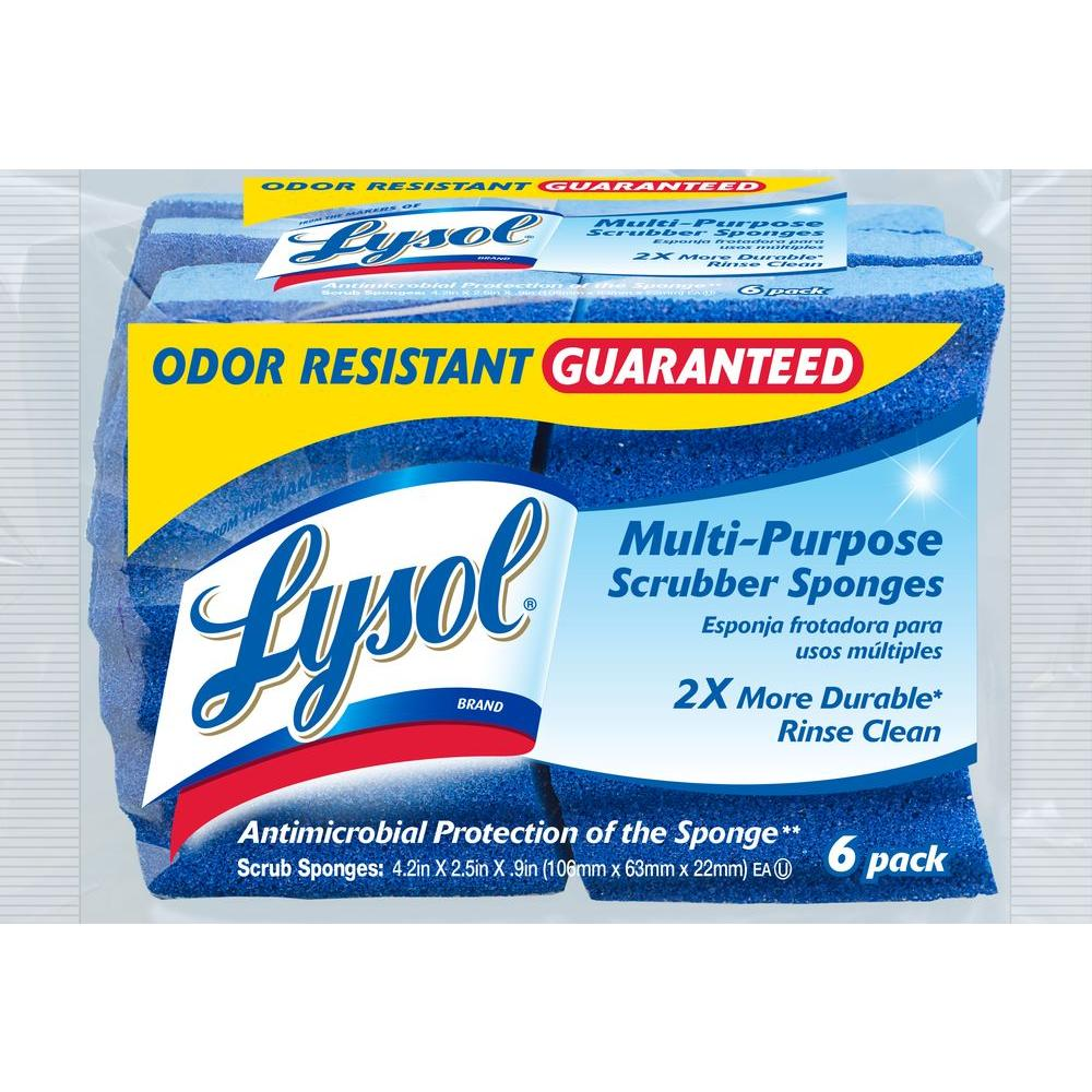 Lysol Odor Resistant Multi-Purpose Scrubber Sponges (6-Pack)
