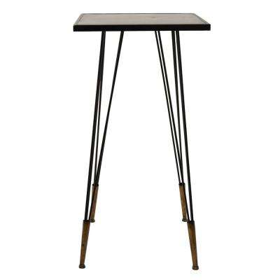 16.25 in. x 16.25 in. Bronze Metal Accent Table