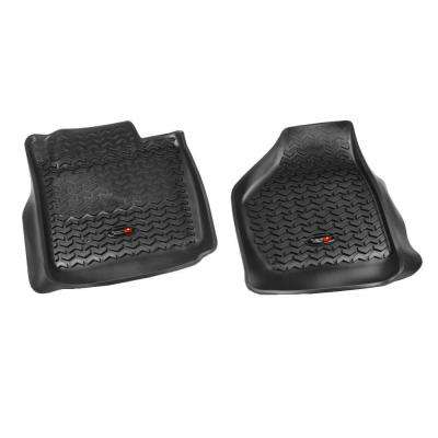 Floor Liner Front Pair Black 2008-2010 Ford F250/350 No Man