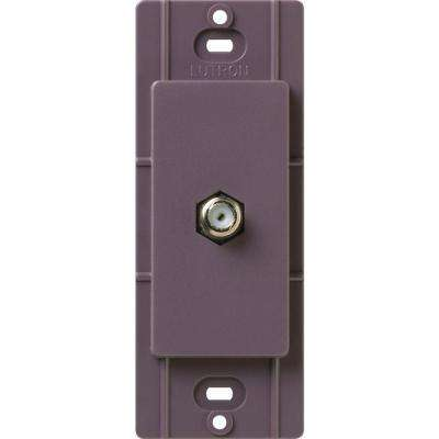 Satin Colors Coaxial Cable Jack - Plum