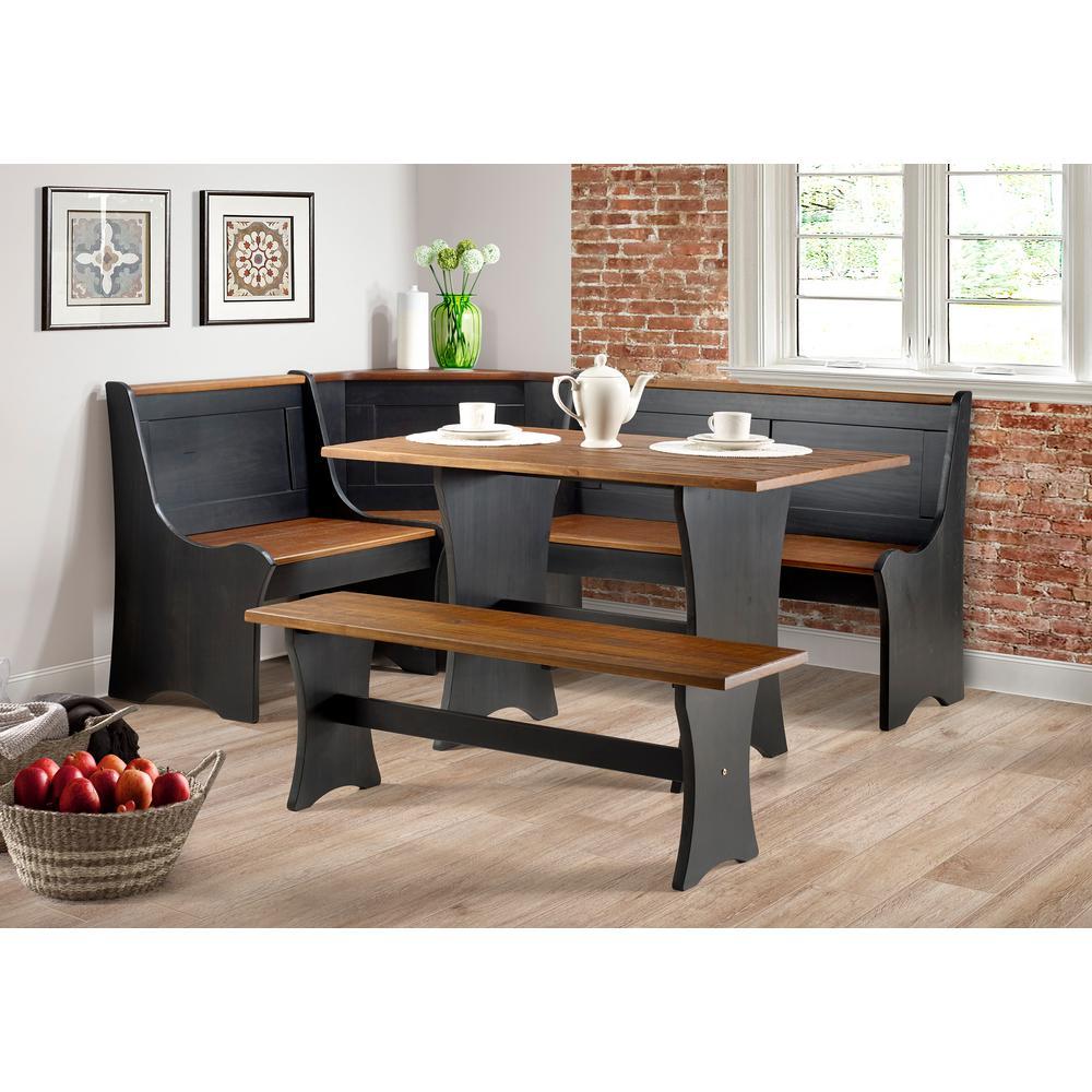 Cool Becker Black Antique Nook Spiritservingveterans Wood Chair Design Ideas Spiritservingveteransorg