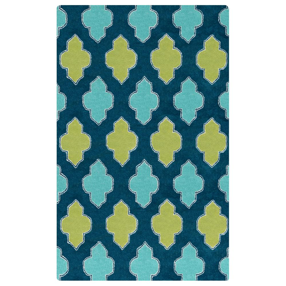 Fusion Collection Multi Color 8 ft. x 10 ft. Area Rug