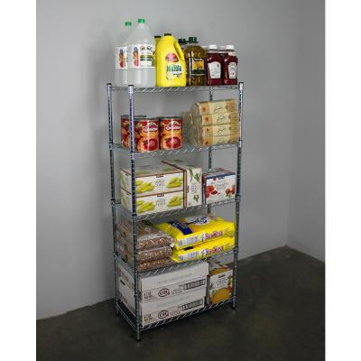 60 in. H x 30 in. W x 14 in. D NSF 5-Tier Wire Chrome Shelving Rack