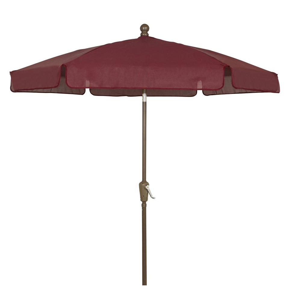 Fiberbuilt Umbrellas 7 5 Ft Patio Umbrella In Burgundy