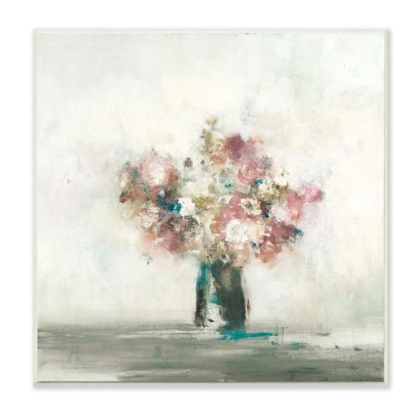 \ Muted Subtle Pink Flowers in a  sc 1 st  Home Depot & Stupell Industries 12 in. x 12 in. \