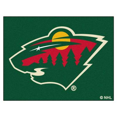 NHL Minnesota Wild Green 3 ft. x 4 ft. Indoor All Star Area Rug