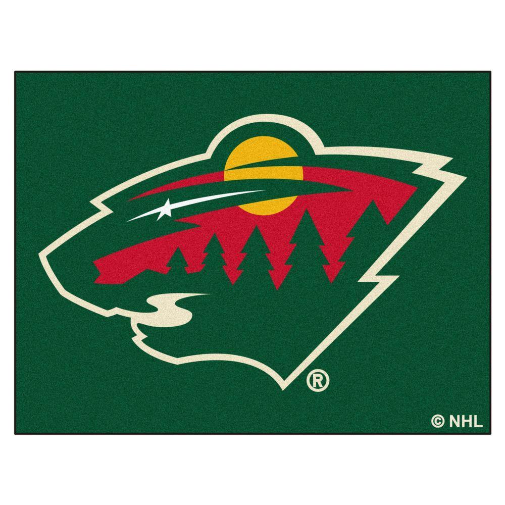 NHL Minnesota Wild Green 3 ft. x 4 ft. Indoor All Star Area Rug
