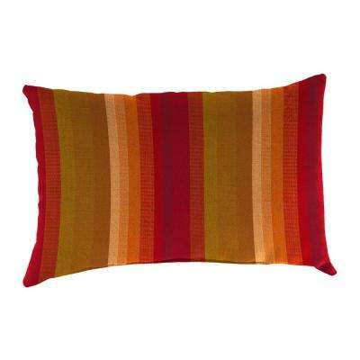 Sunbrella 19 in. x 12 in. Astoria Sunset Lumbar Outdoor Throw Pillow