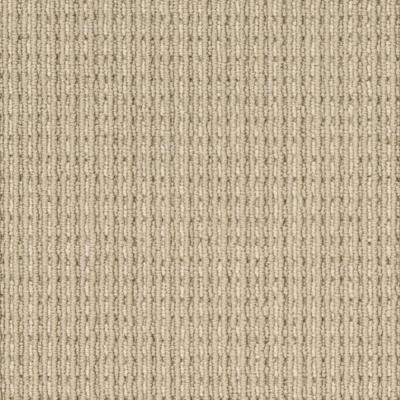 Carpet Sample - Upland Heights - Color Oakwood Pattern Loop 8 in. x 8 in.