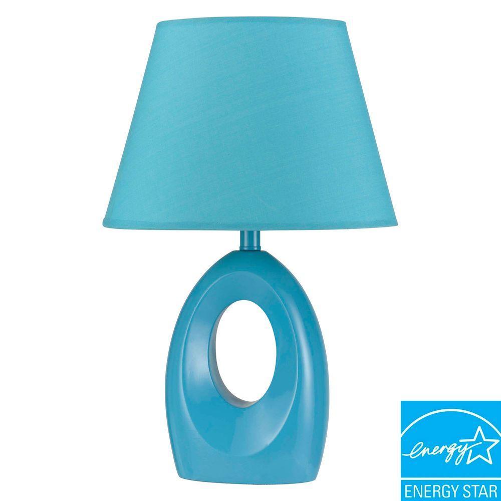 CAL Lighting 17 in. Blue Resin Children's Accent Lamp