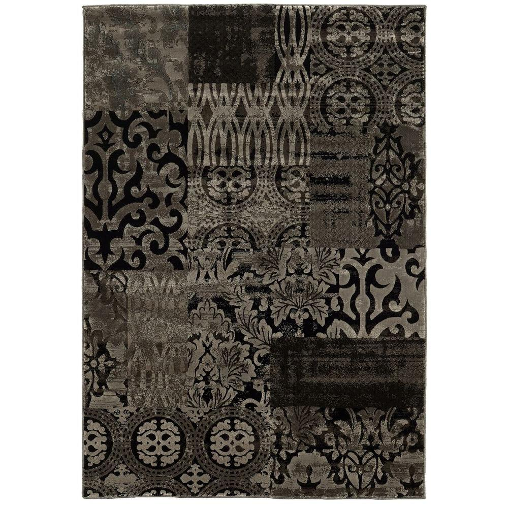linon home decor jewel collection dark beige and beige 8 ft x 10 ft 4 in indoor area rug rug. Black Bedroom Furniture Sets. Home Design Ideas