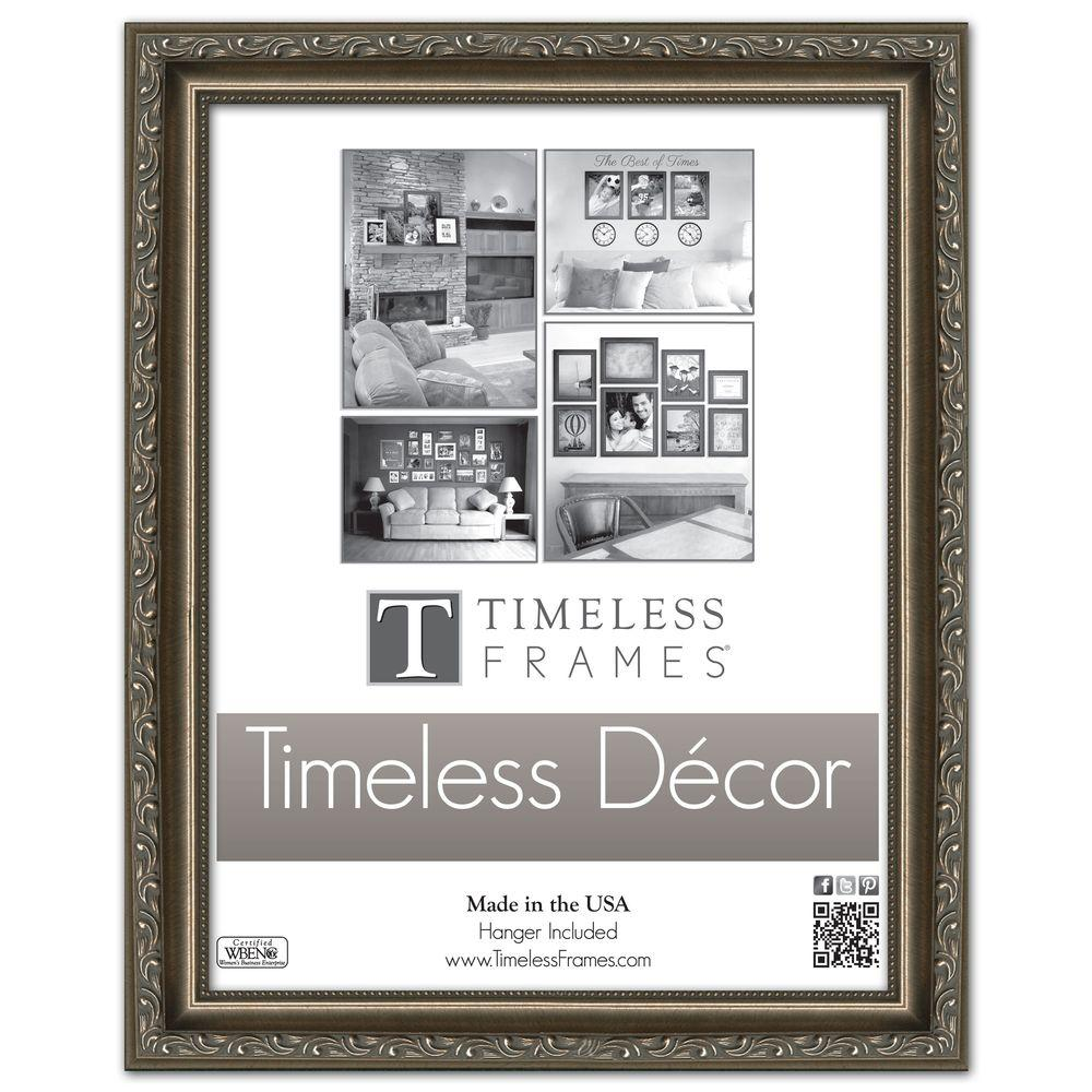 Timeless Frames Carrington 1-Opening 11 in. x 14 in. Pewter Picture ...