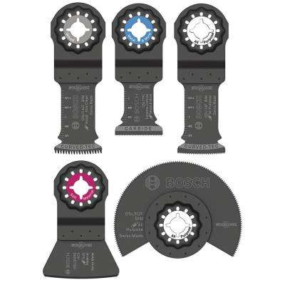 Starlock Oscillating Multi-Tool Accessory Blade Set (5-Piece)