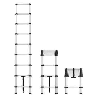 12 ft. Telescopic Aluminum Pinch-Free Extension Ladder with 300 lb. Load Capacity Type IA Duty rating