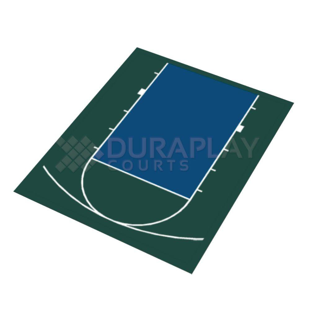 duraplay 20 ft 5 in x 24 ft 7 in half court basketball kit 1h