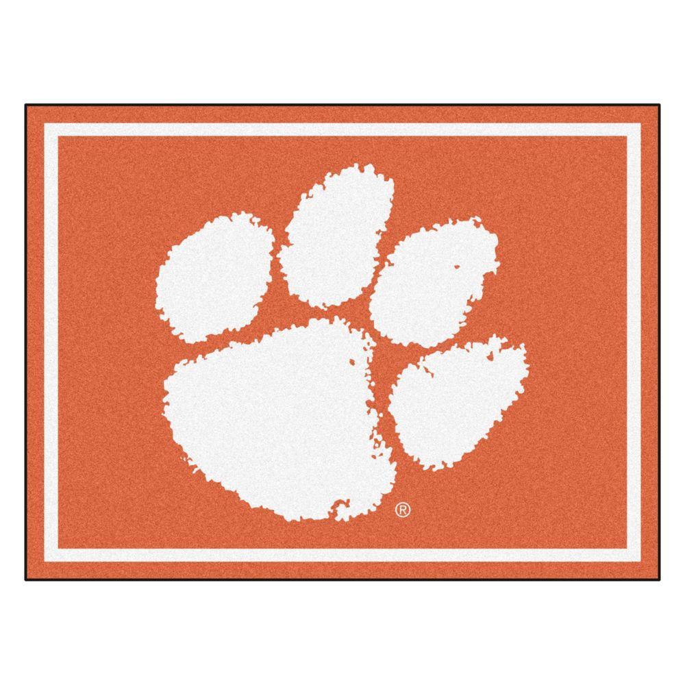 NCAA Clemson University Orange 8 ft. x 10 ft. Indoor Area Rug